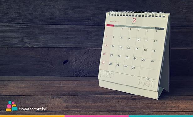 Новый календарь в Treewords